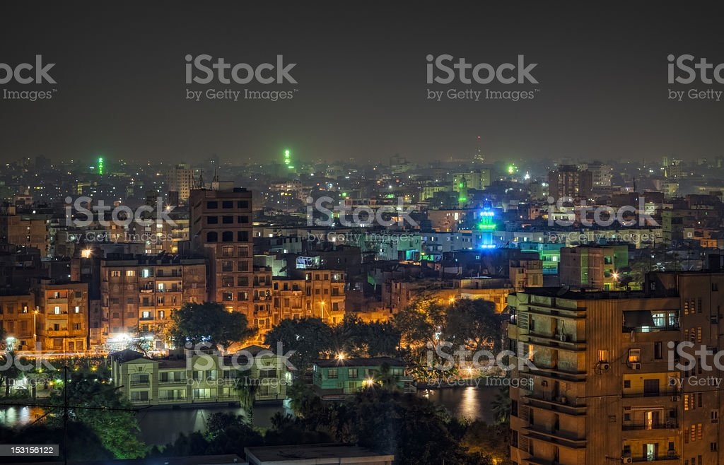 Zamalek district on Gezira Island - Cairo stock photo