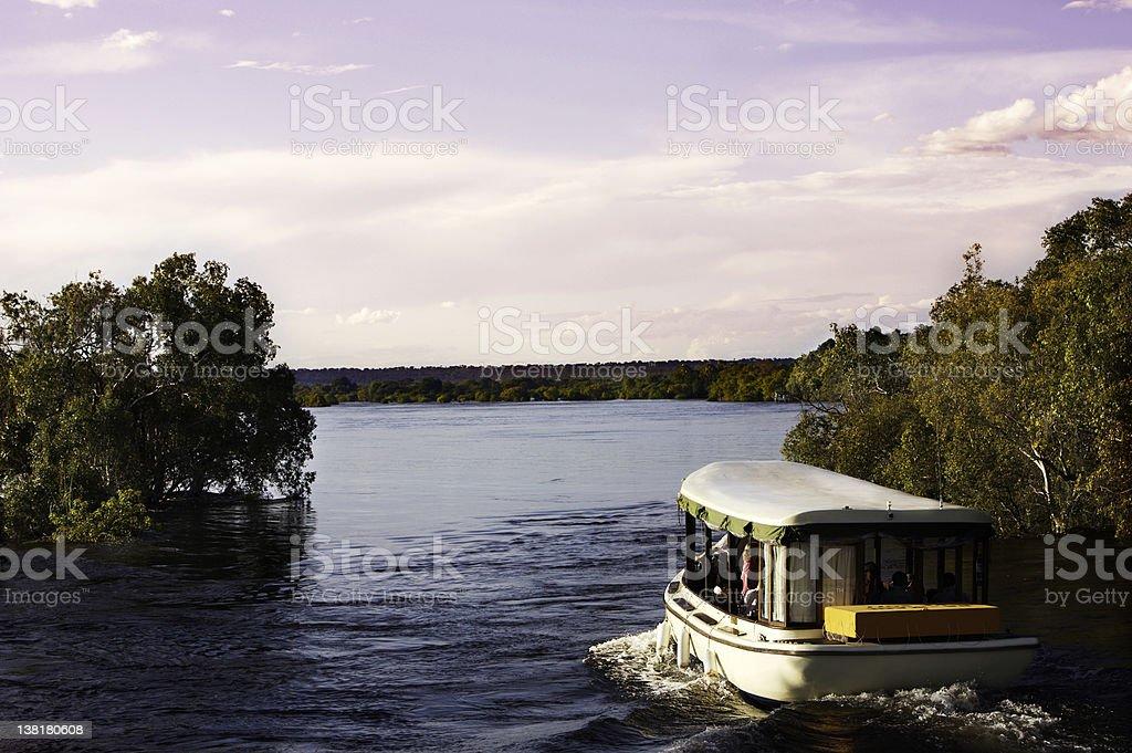Zambezi  River at dusk stock photo
