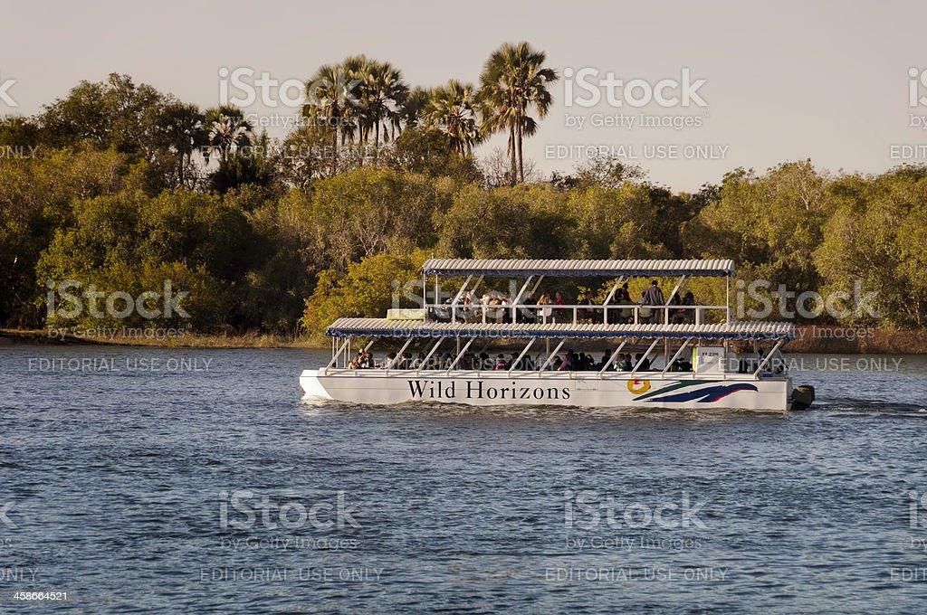 Zambezi River Cruise stock photo