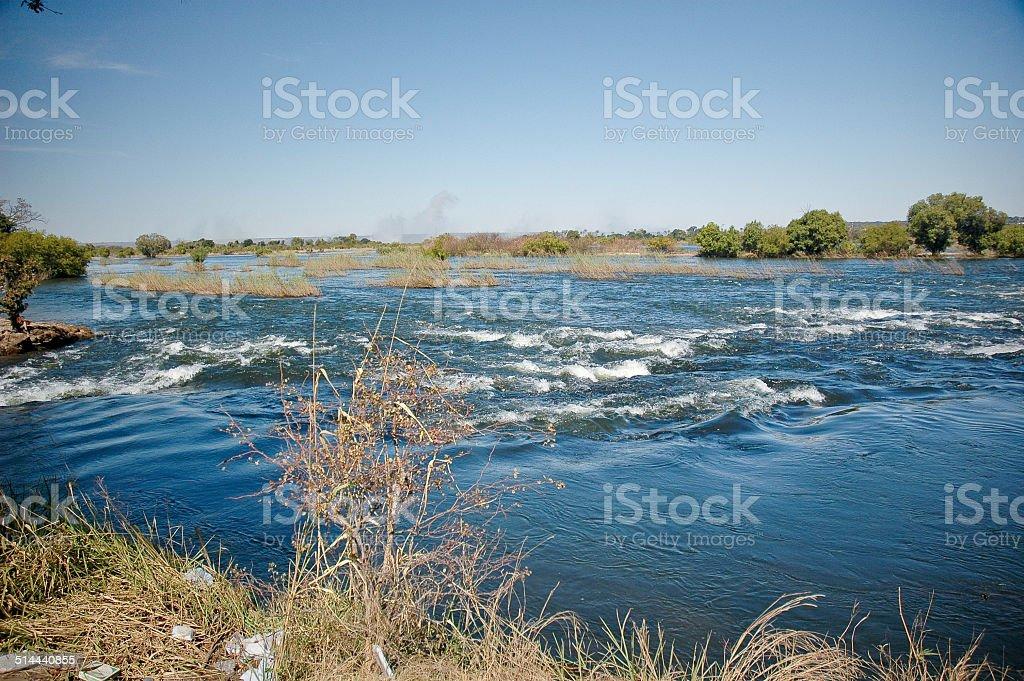 Zambezi River Mosi-oa-Tunya Victoria Falls Zambia Zimbabwe stock photo