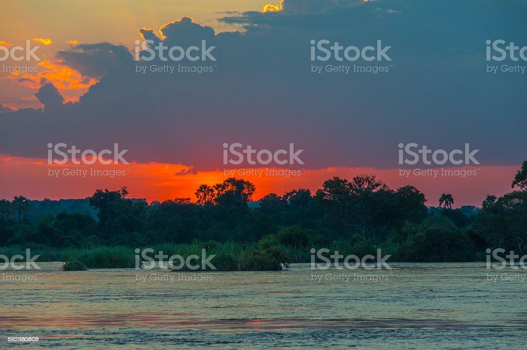Zambezi Sunset stock photo