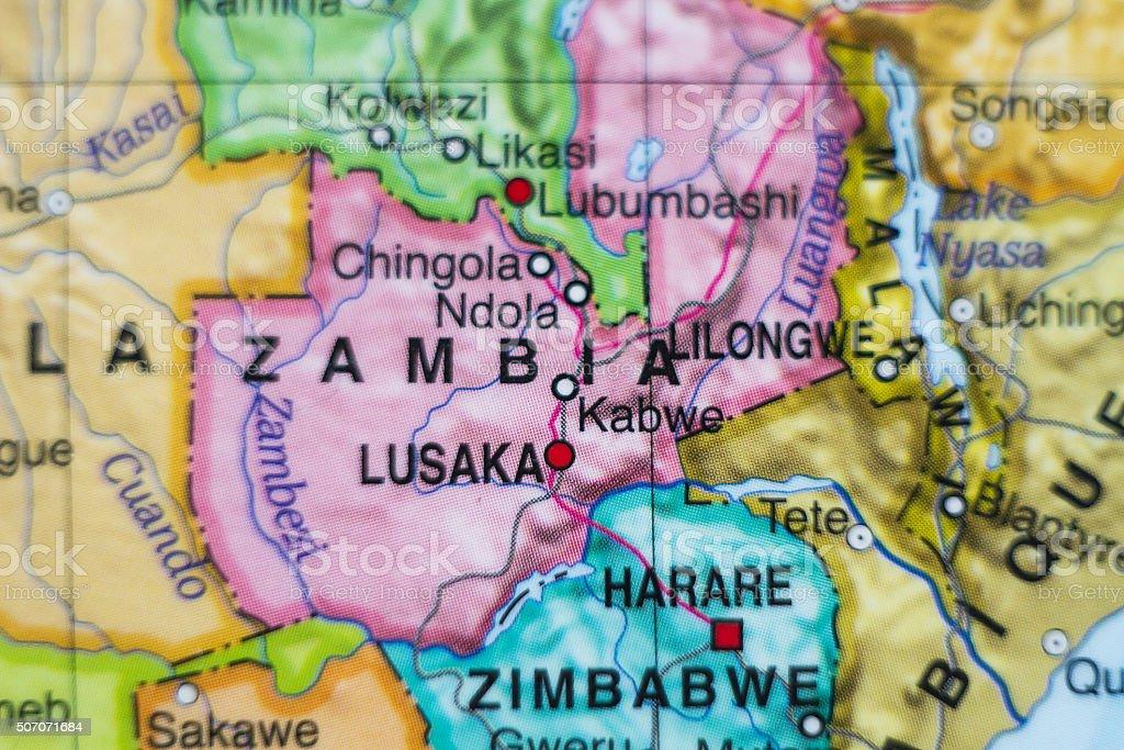 Zambia country map . stock photo