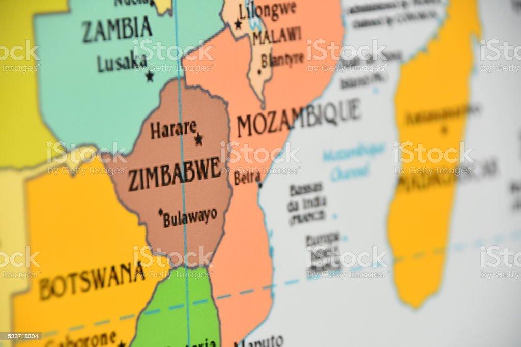 Zambia country map stock photo