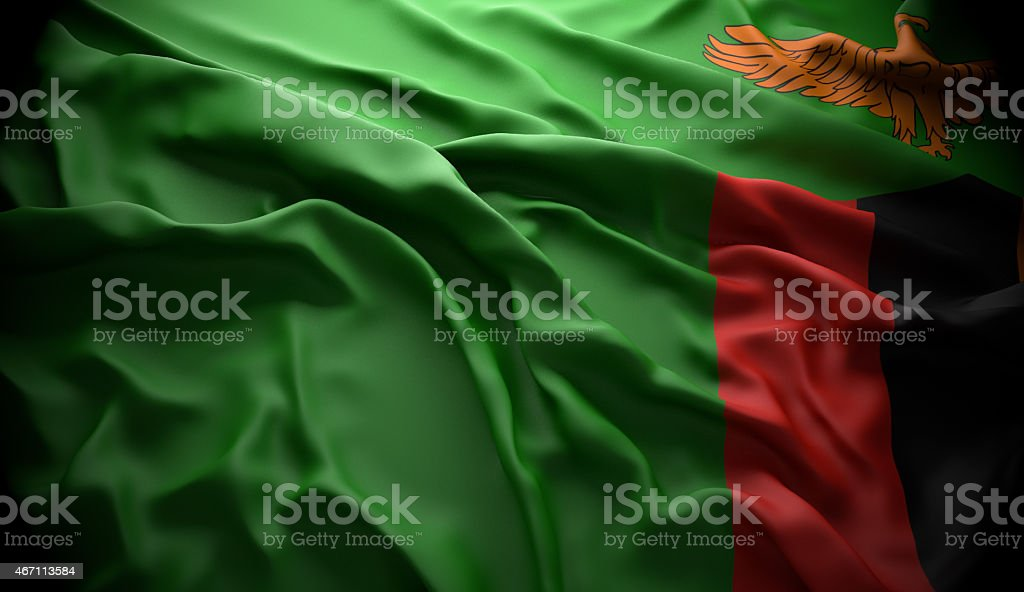 Zambia, Lusaka national official state flag stock photo