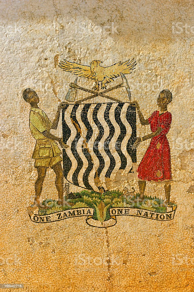 Zambian Emblem stock photo