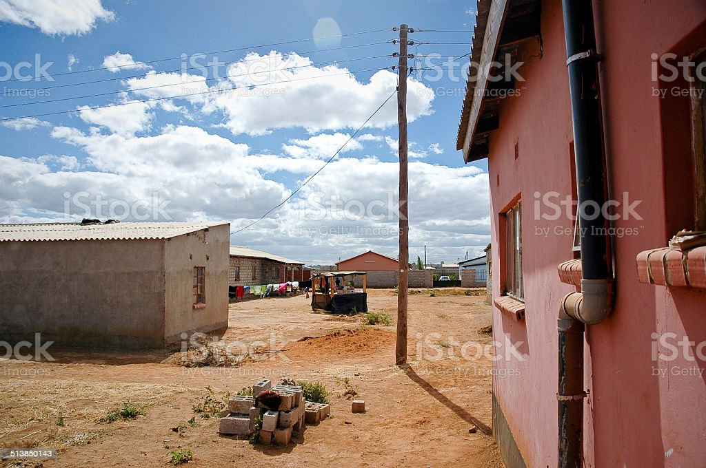 Zambian Lusaka Suburb Neighbourhood stock photo