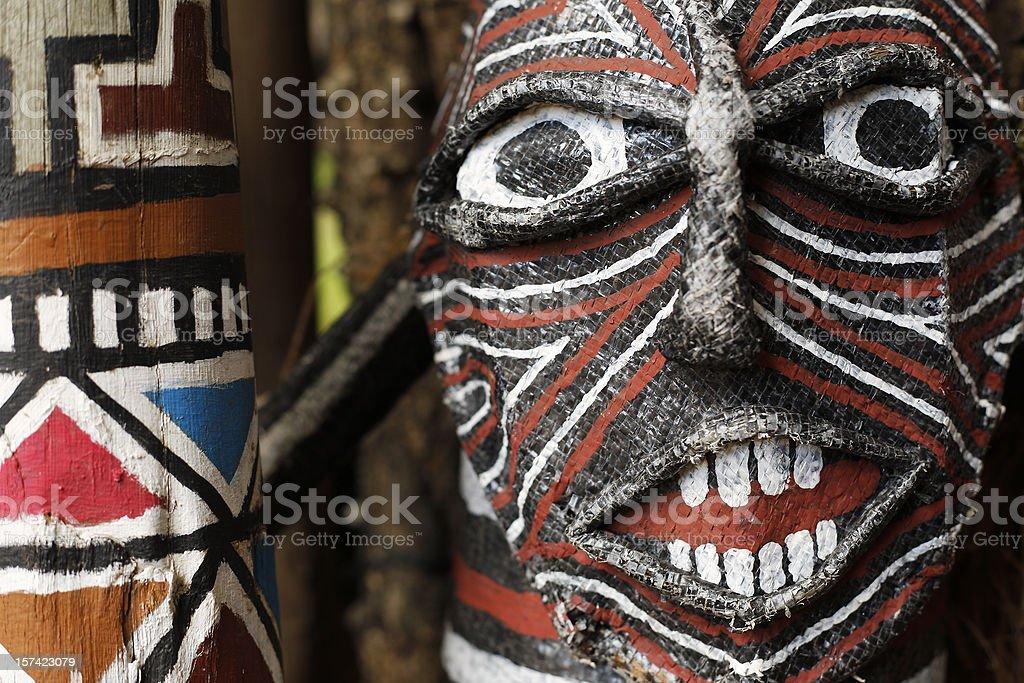 Zambian tribal ceremonial mask royalty-free stock photo