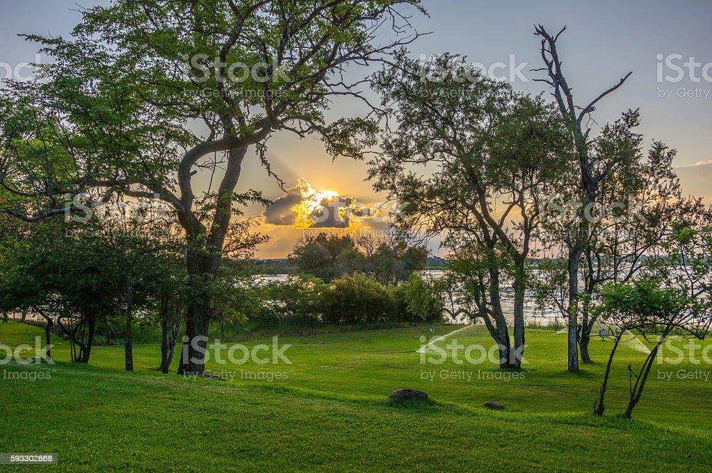 Zambian view stock photo
