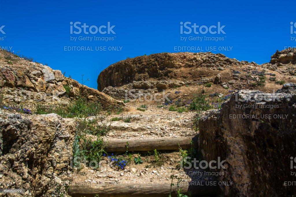 zambujal fort Ericeira Portugal. stock photo