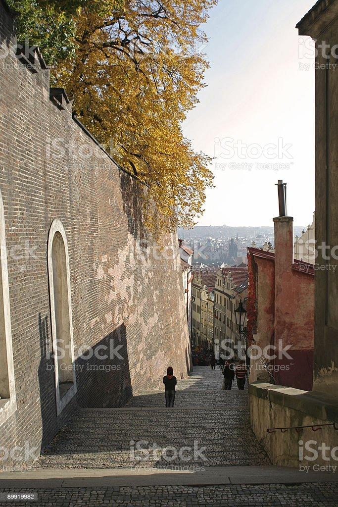 Zamecke Schody do Prazky Hrad, Prague royalty-free stock photo