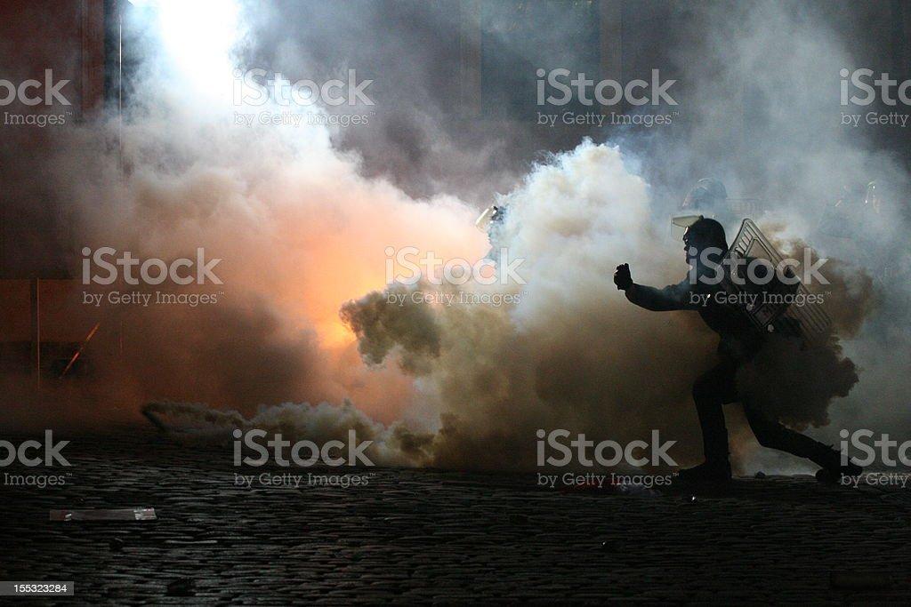 Zamieszki stock photo