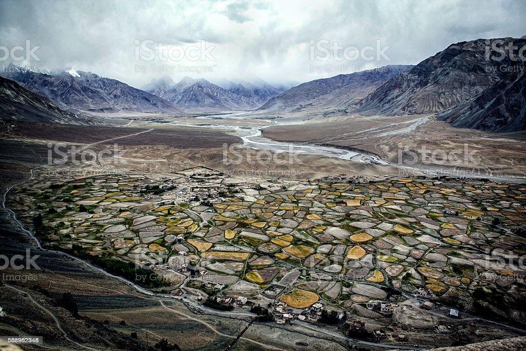 Zangla Valley, Zanskar, Jammu & Kashmir, India stock photo