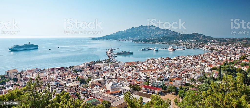 Zante Town panorama stock photo