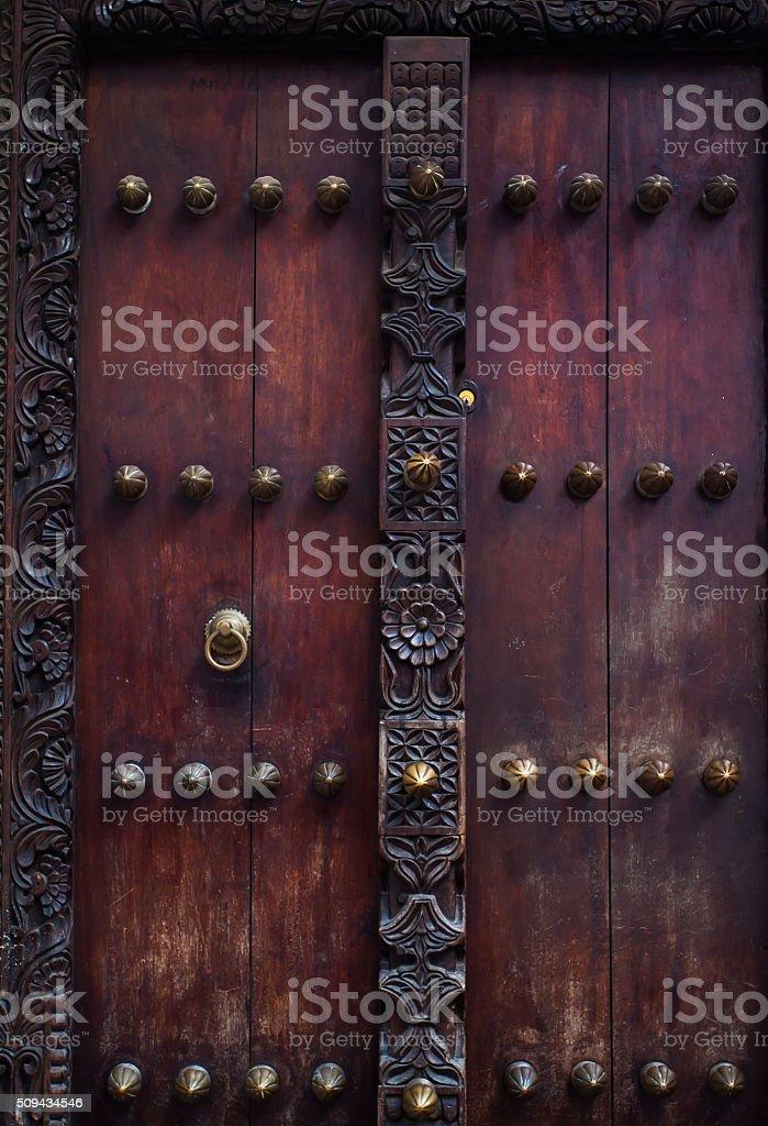 zanzibar door detail stock photo