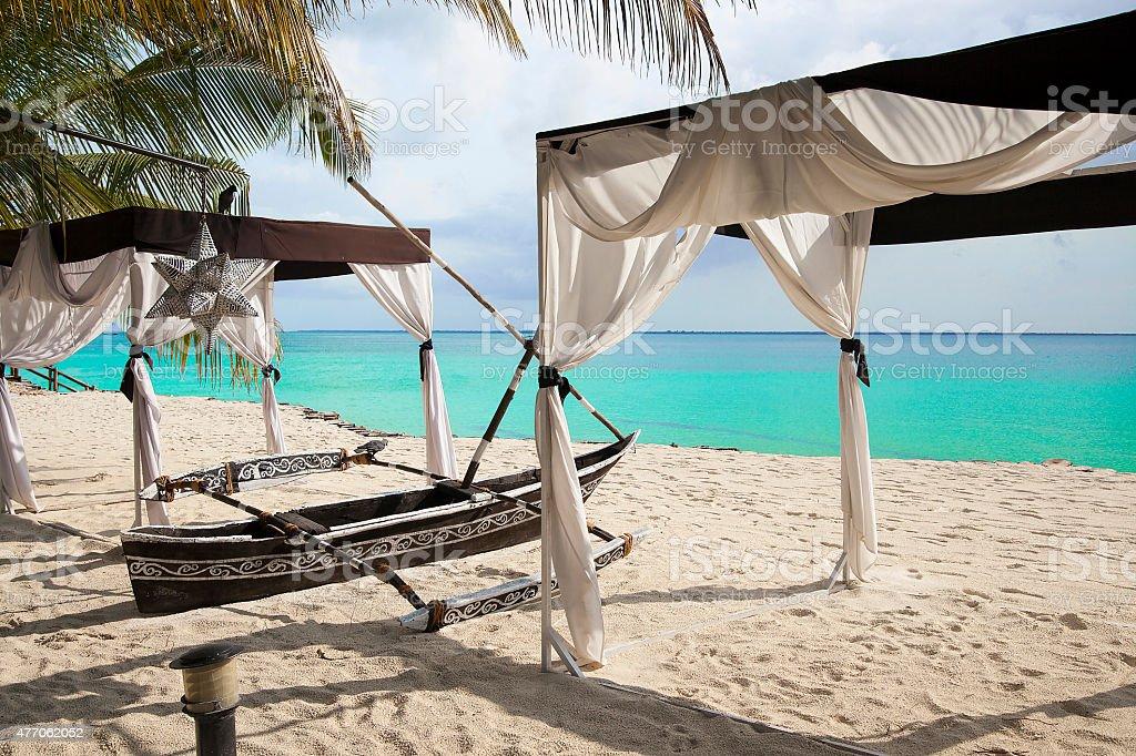 Zanzibar egzotic vacation stock photo