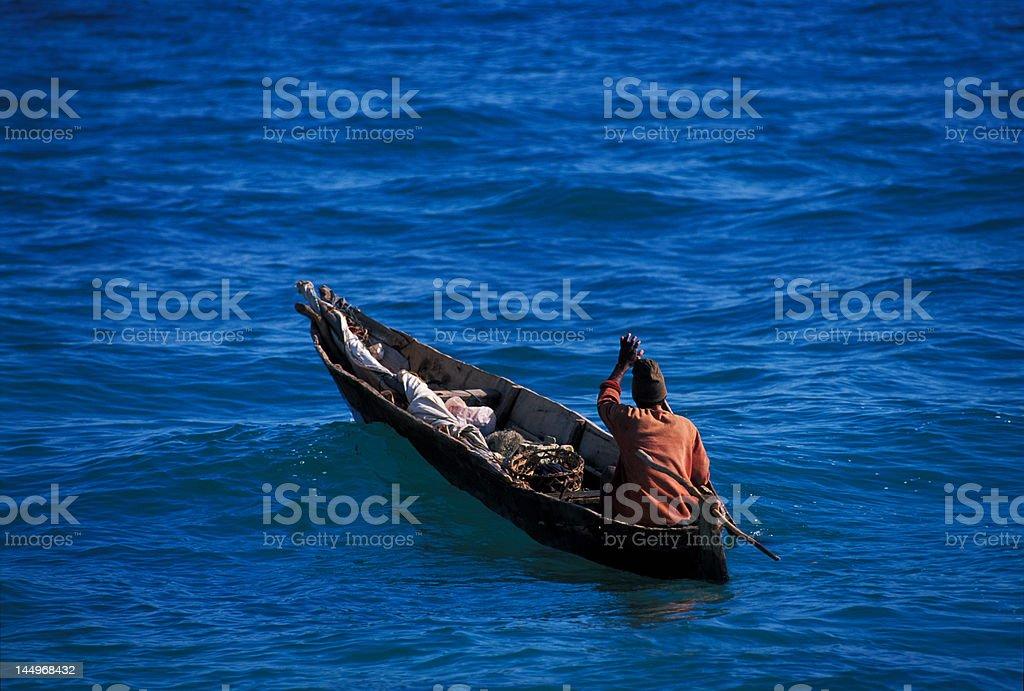 Zanzibar fisherman royalty-free stock photo