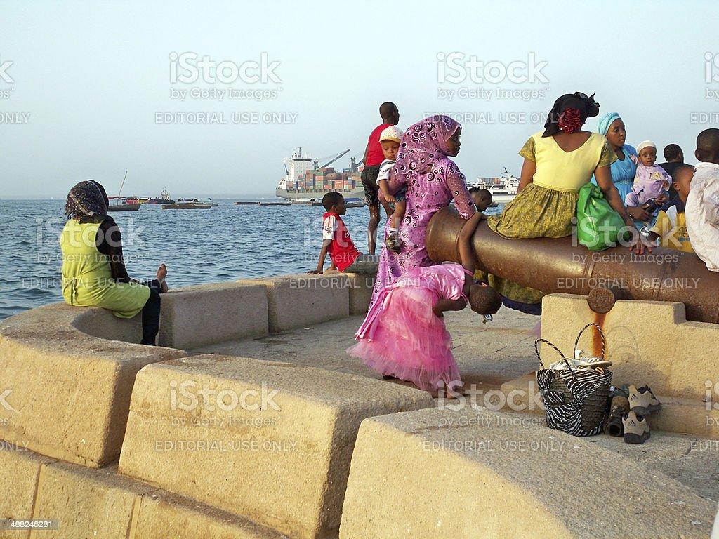Zanzibar Locals stock photo