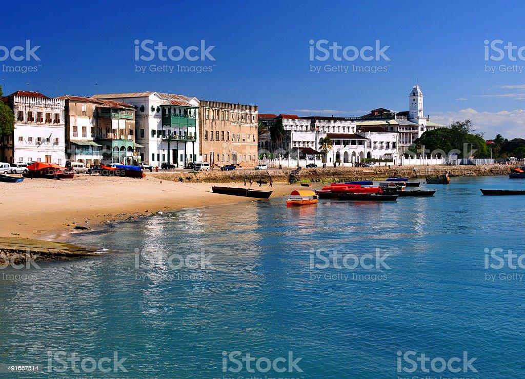 Zanzibar: Stone Town beach stock photo