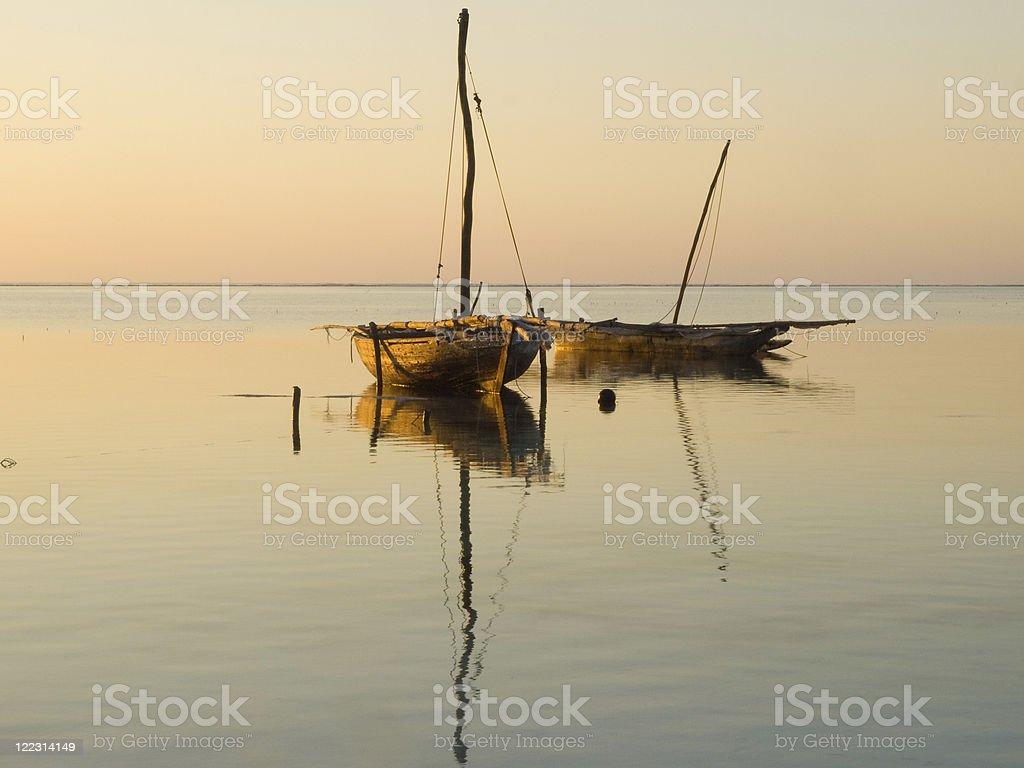Zanzibar sunrise stock photo
