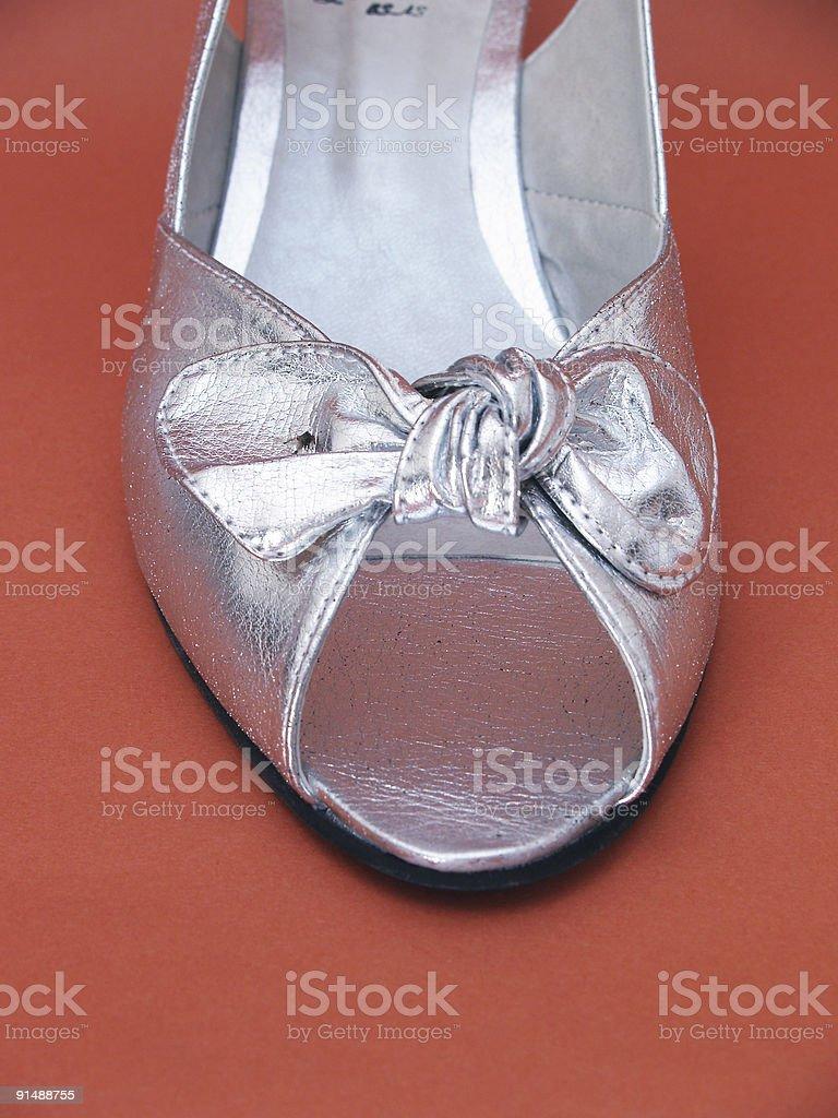 Zapato plateado royalty-free stock photo