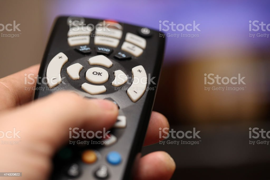 Zapping Tv stock photo