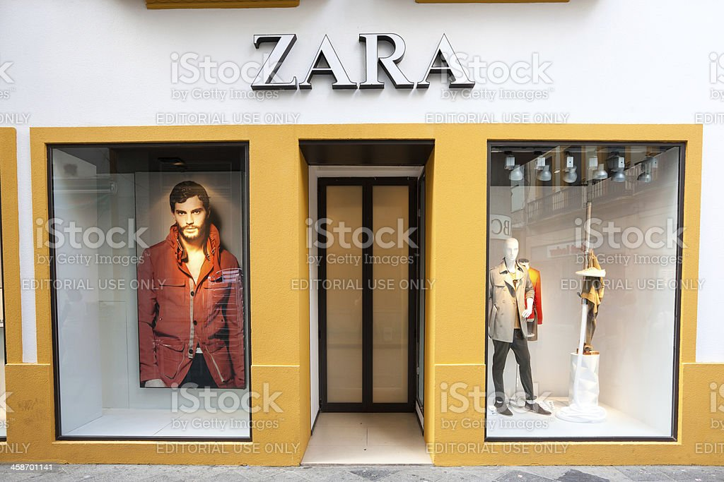 Zara Shop in Seville, Spain royalty-free stock photo