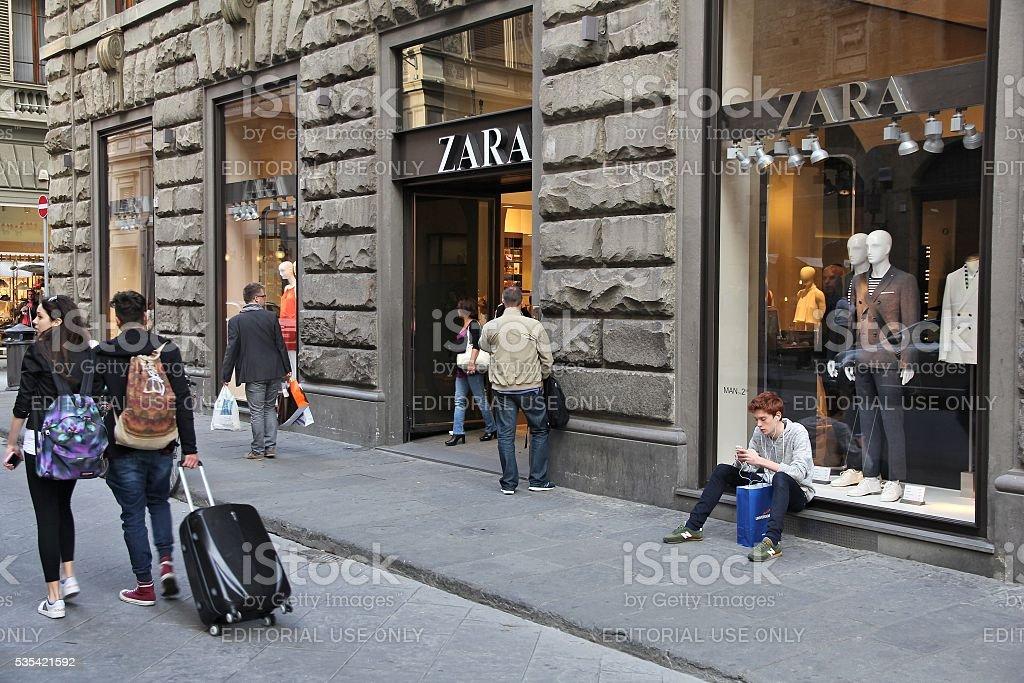 Zara shop stock photo