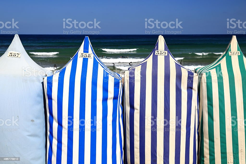 zarautz-beach stock photo
