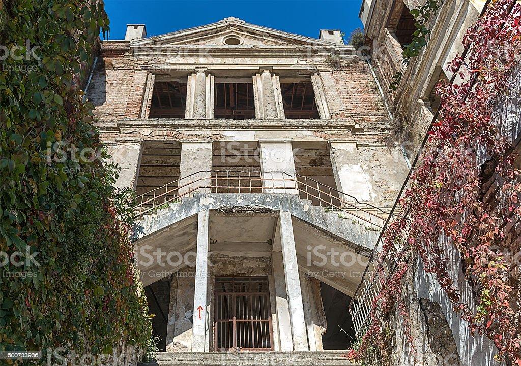 Zarifeion School (Taş Mektep) in Tirilye stock photo