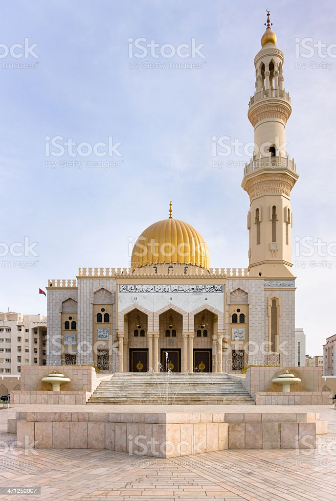 Zawawi Mosque in Al Khuwair Muscat Oman royalty-free stock photo