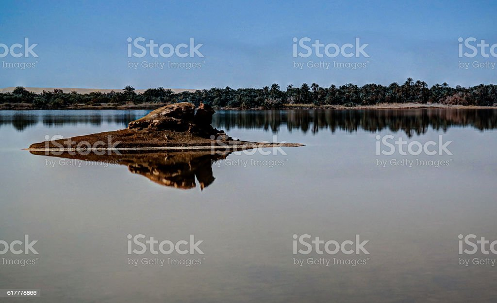 Zaytun lake near Siwa oasis, Egypt stock photo