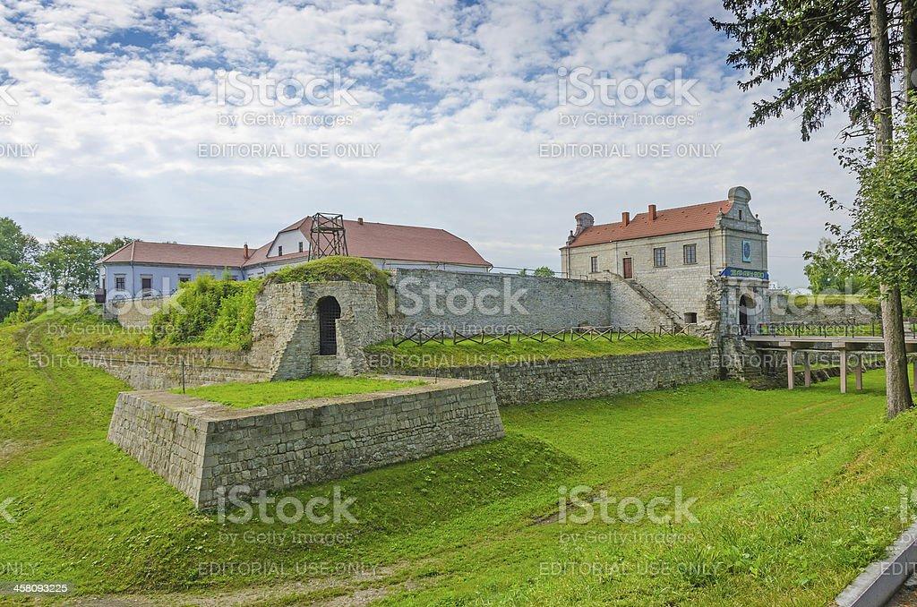 Zbarazh Castle stock photo