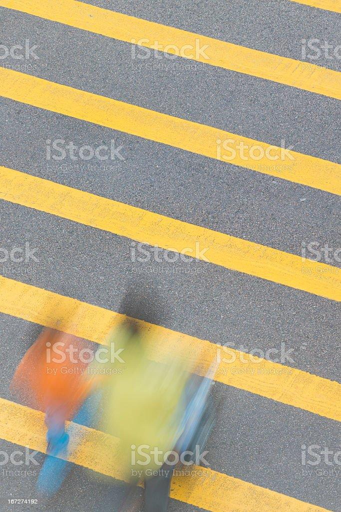 Zebra Crossing for Primary School Children royalty-free stock photo