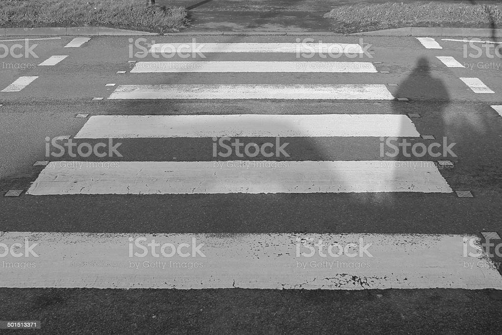 Zebra Crossing / Pelican crossing stock photo
