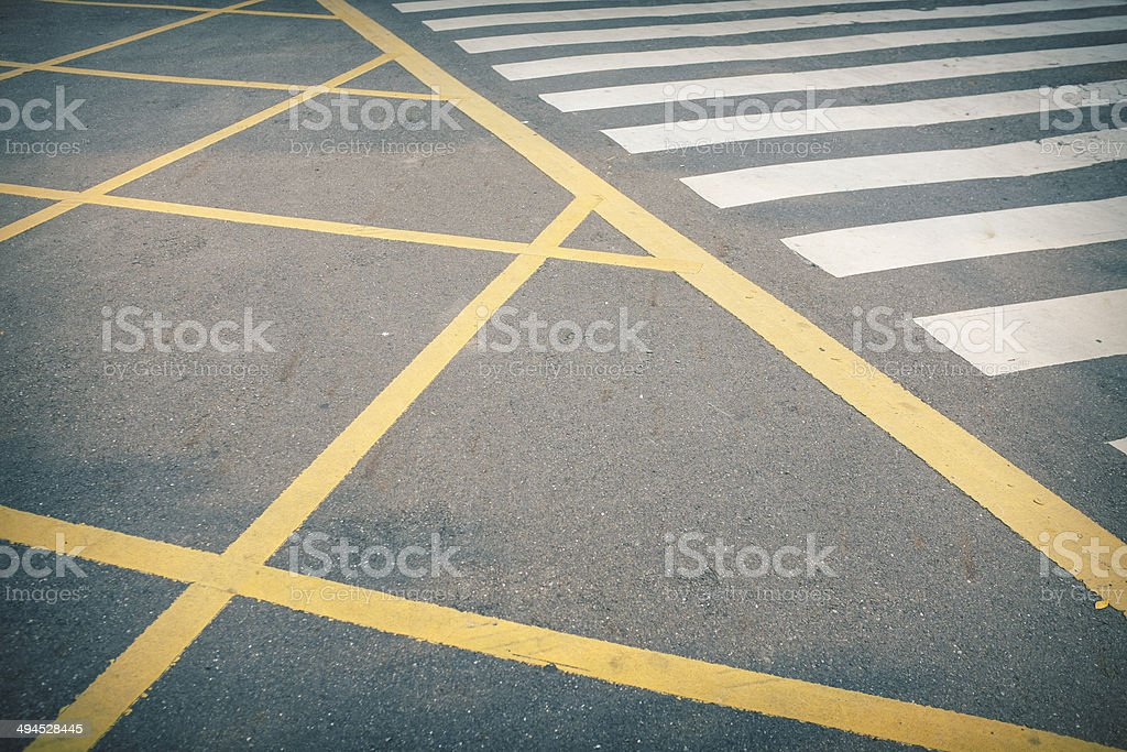 Zebra Crossing Perspective royalty-free stock photo