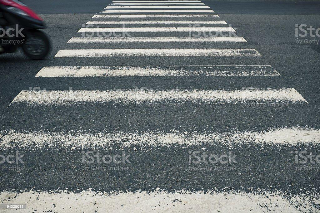 Zebra Crossing Perspective royalty-free stock photo