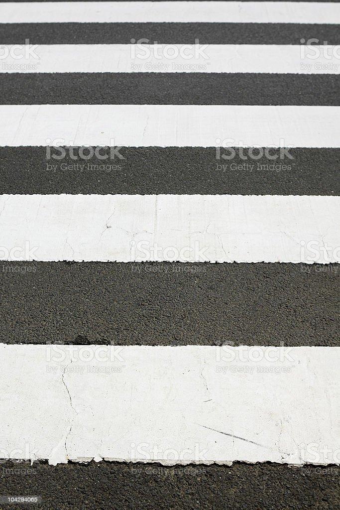 Zebra Crossing royalty-free stock photo