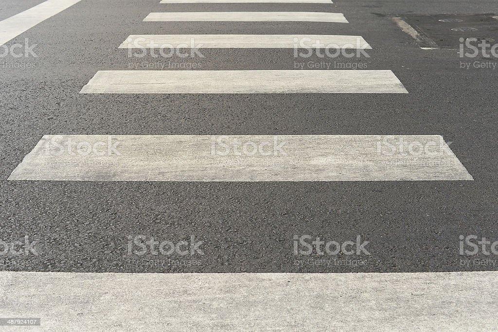 Zebra crossing stock photo