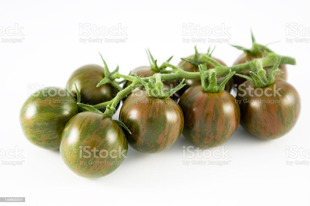 Zebra tomatoes stock photo