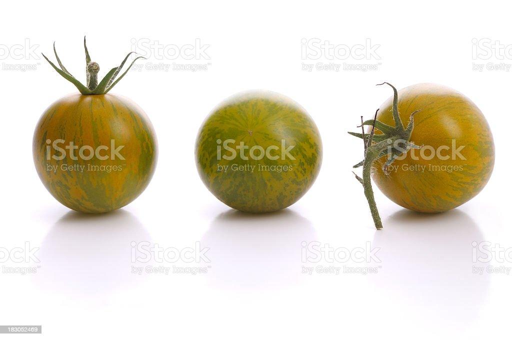 Zebra tomatos royalty-free stock photo