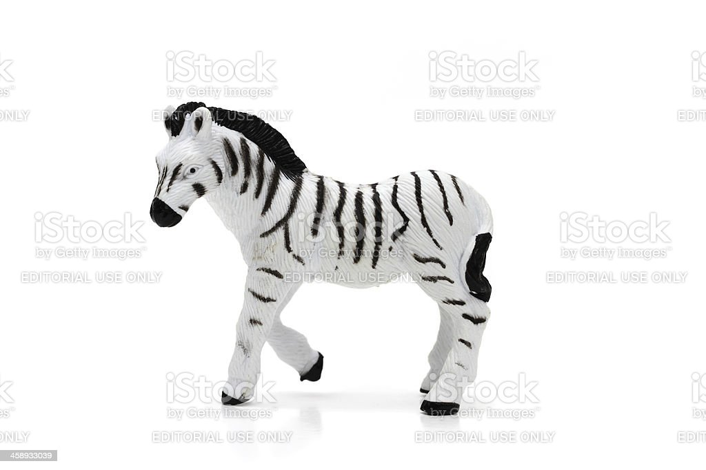 Zebra toy stock photo