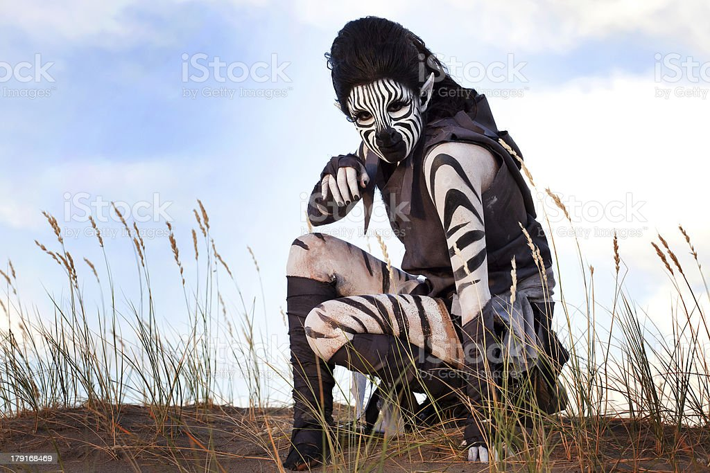 Zebra Woman royalty-free stock photo