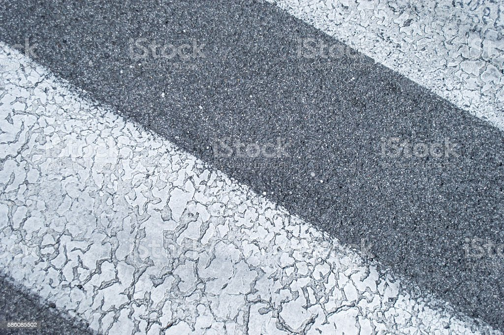 Zebra/Pedestrian Crossing on a Road Close Up royalty-free stock photo