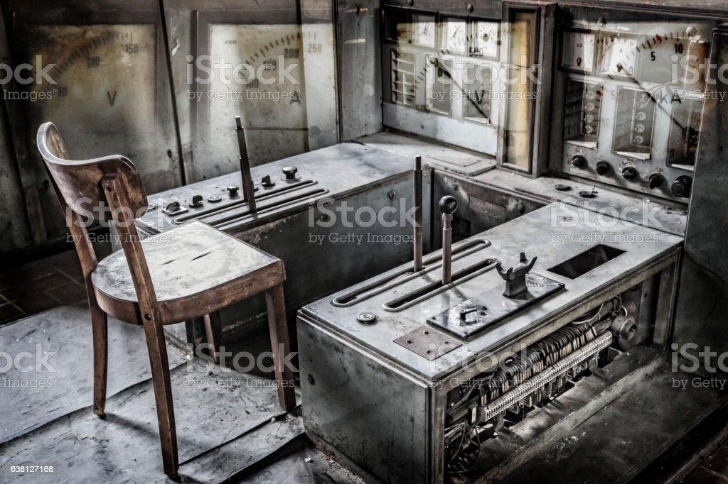 Zeche Zollverein control room stock photo