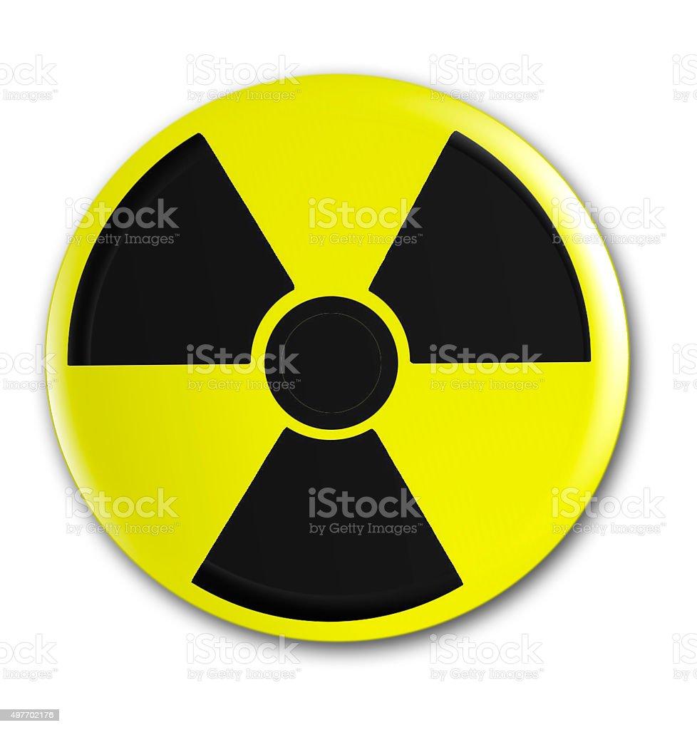 Zeichen für Radioaktiv stock photo