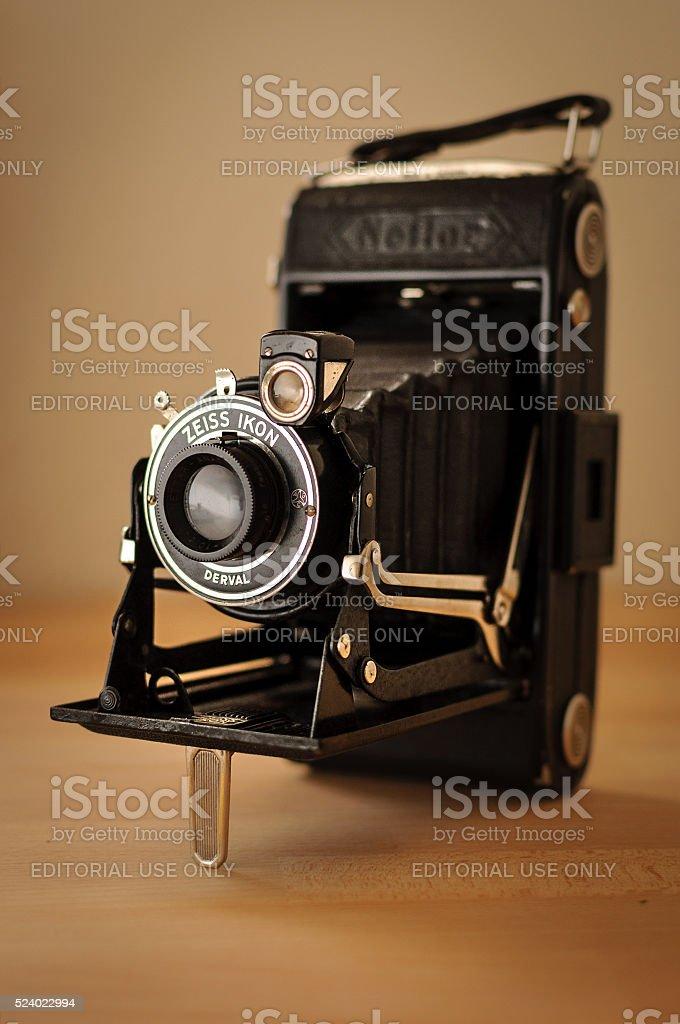 Zeiss Ikon vintage vest pocket folding camera stock photo
