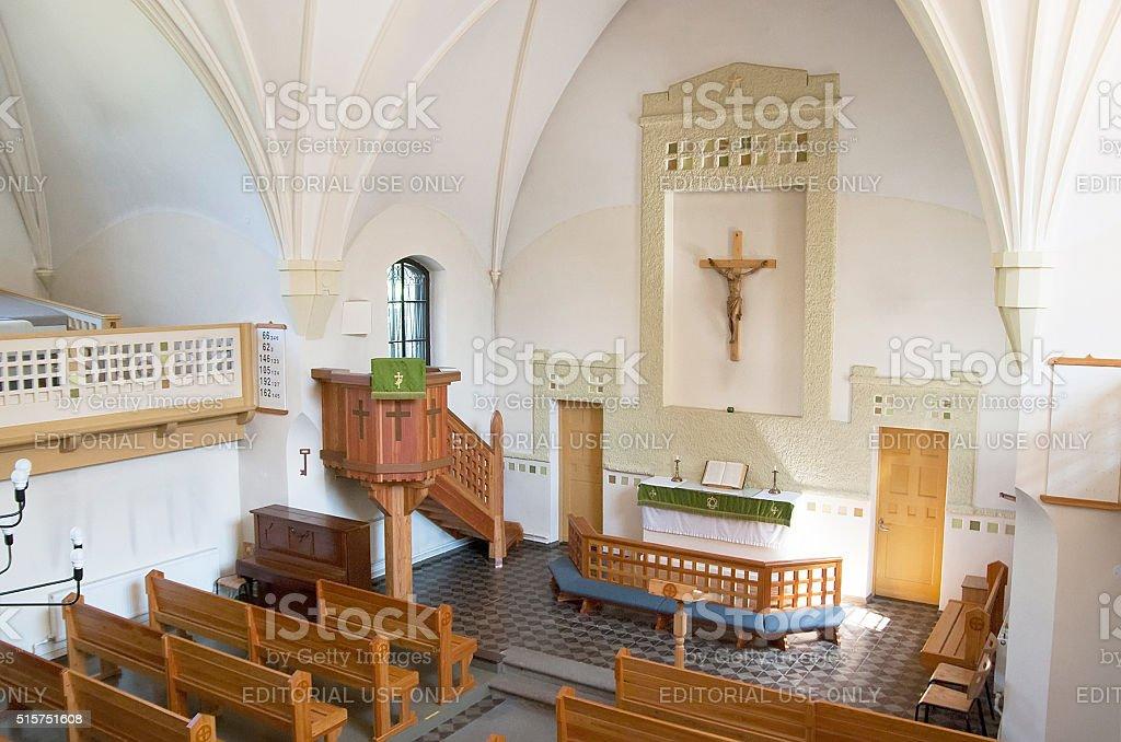 Zelenogorsk, Saint - Petersburg, Russia. Church  of Transfiguration of Jesus stock photo