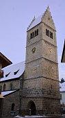 Zell am See, Austria the church