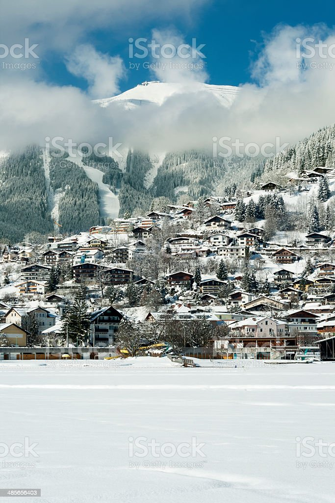 Zell Am See In Winter royalty-free stock photo