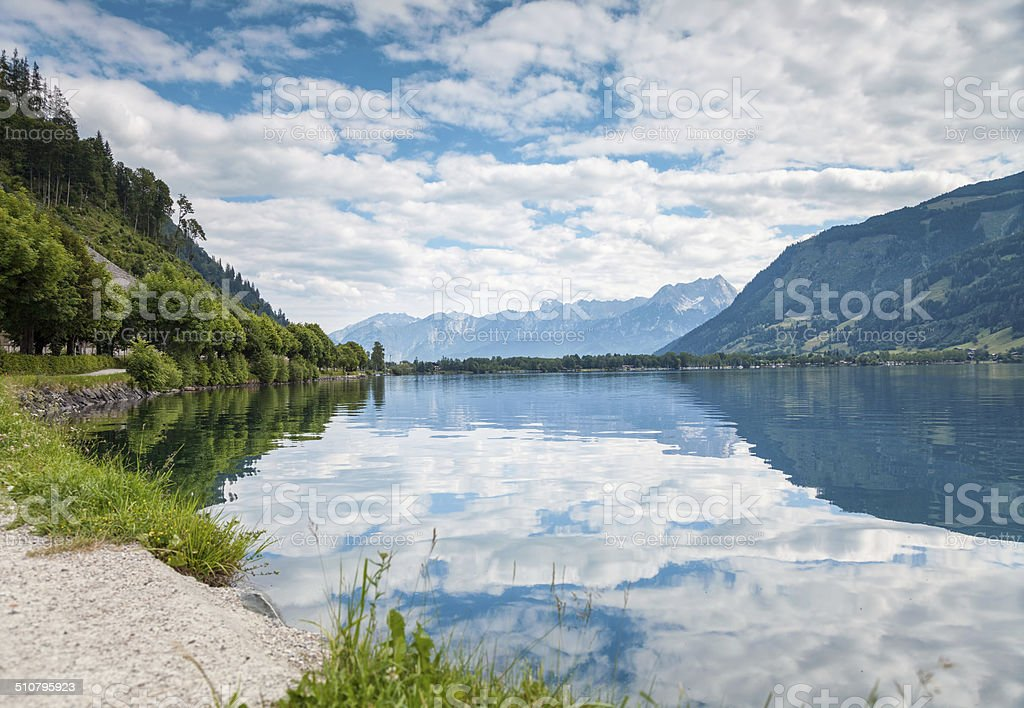 Zell Am See lake in Austria stock photo